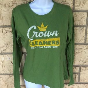 American eagle green Sheer Long Sleeve Logo XL